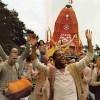 Chanting Hare Krishna at Ratha-yatra Festival