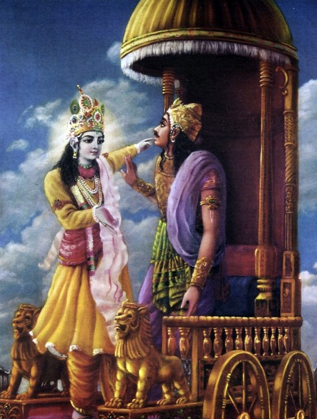 Krishna Speaking to Arjuna from Bhagavad-Gita