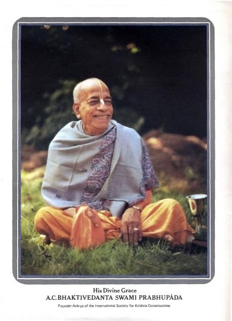 His Divine Grace A.C. Bhaktivedanta Swami Prabhupada -- Founder-Acarya of the International Society for Krishna Consciousness (ISKCON)