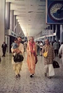 His Holiness Satsvarupa dasa Gosvami arrives in Mexico for preaching tour, 1973