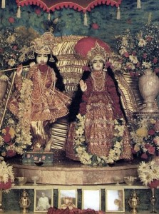In our present state we can not see the spiritual form of Krishna, which is eternal bliss and knowledge, yet out of His mercy He appears in the incarnation of the Deity.