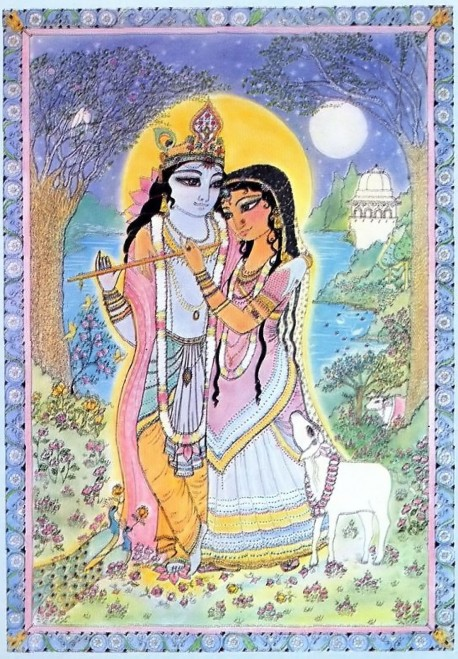 Radha and Krishna in Vrindavan
