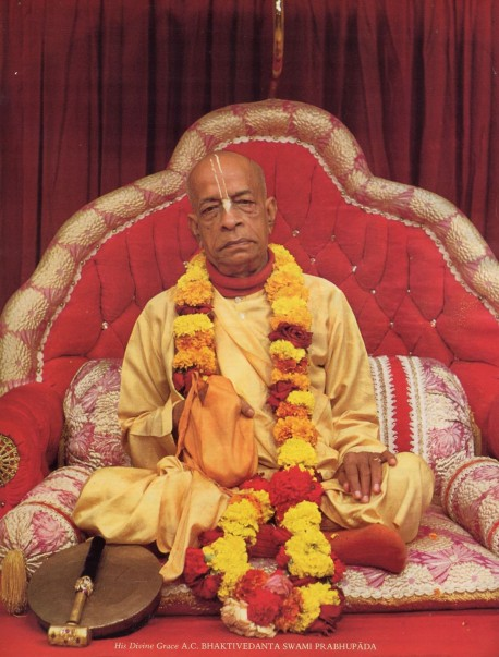 His Divine Grace A.C. Bhaktivedanta Swami Prabhupada -- Founder-Acarya of the International Society for Krishna Consciousness (ISKCON)