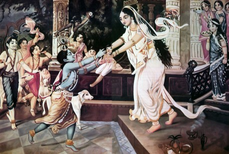 Mother Yasoda and Krishna