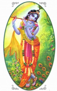Krishna playing His flute