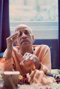 Srila Prabhupada speaks with Bob Cohen, Peace Corps Worker, Mayapur, West Bengal, India, 1974.