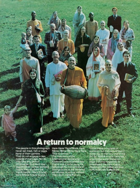 Hare Krishna: A return to normalcy