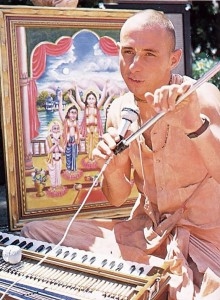 Visnujana Swami on Radha Damodara Traveling Sankirtan Party. ISKCON USA 1974.