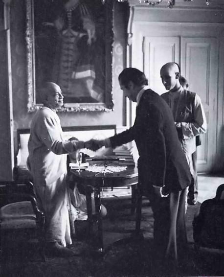 Srila Prabhupada's official reception in Geneva.