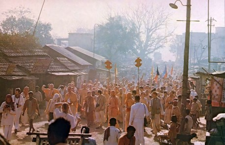 Prophecy Fulfilled -- Westerners Chanting Hare Krishna in Sridama Mayapur