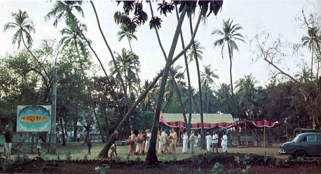 A view of Hare Krishna land, site of ISKCON's Bombay center. 1975.