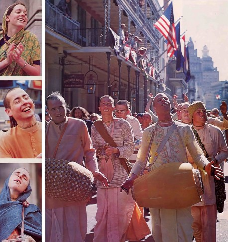 Chanting Hare Krishna in New Orleans. 1975.