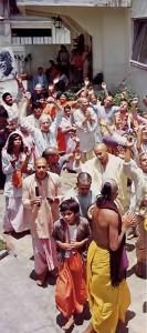 Devotees chant Hare Krishna in Mexico City. 1975