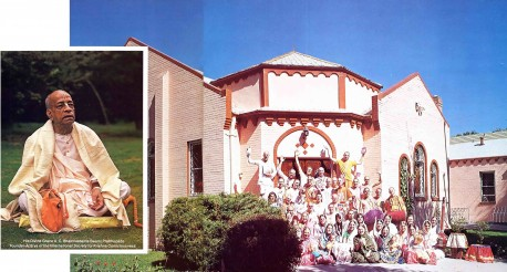 Devotees outside the ISKCON Denver Hare Krishna Temple 1975.