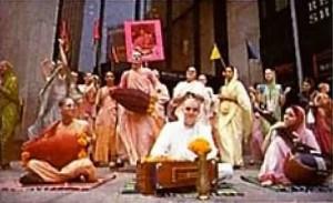 Hare Krishna devotees chanting