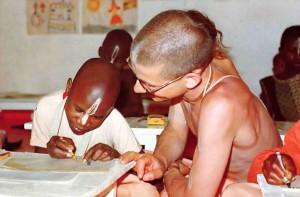 ISKCON's primary school in Nairobi, Kenya, Africa. 1975.