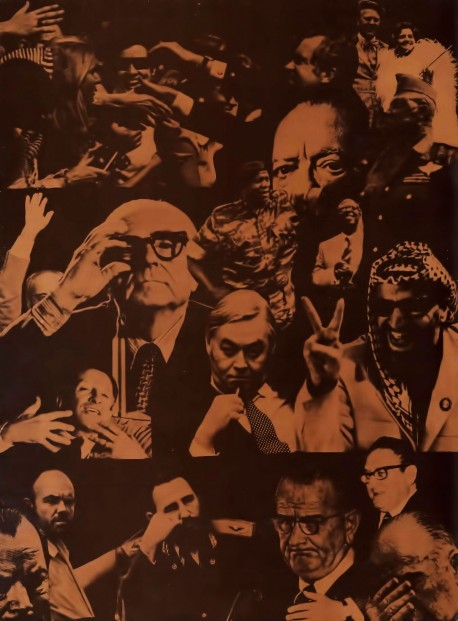 Collage of Politcations from the 1970's