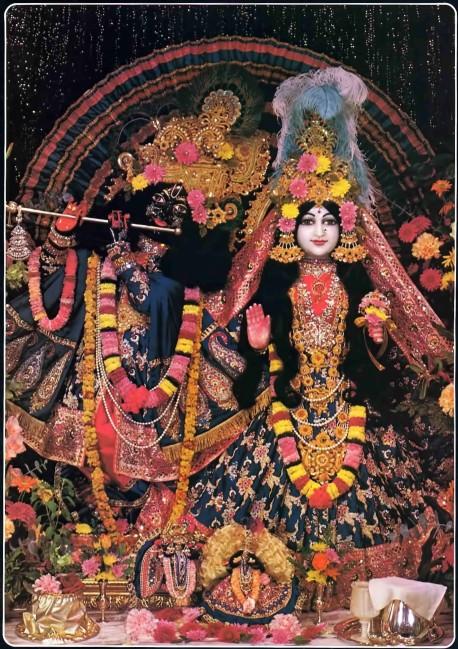 Radha-Krishna Deities at the Fisher Mansion, ISKCON Detroit.