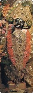 The Deity of Krishna in the ISKCON Temple in Paris.