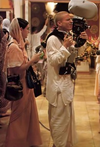 Yadubara dasa and his wife Visakha devi dasi make a film about Krishna consciousness.