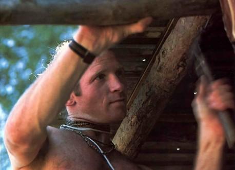 Hare Krishna Bullder makes home on farm community - 1976