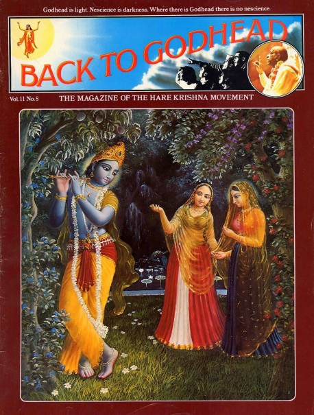 Back to Godhead - Volume 11, Number 08 - 1976 Cover