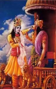 Arjuna accepts Krishna as his Guru