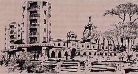 ISKCON's Hare Krishna Land, Juhu, Bombay, Under Constructon. 1976.