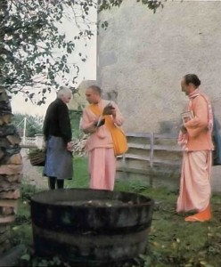 """Preaching,"" Srila Prabhupada says, ""is the essence of this Krishna consciousness movement.""  France 1977"