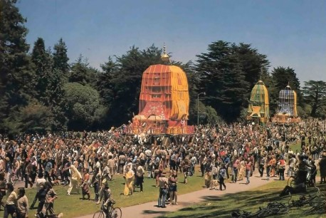 In San Francisco (and everywhere else) Ratha-yatra brings out thousands of people. 1977