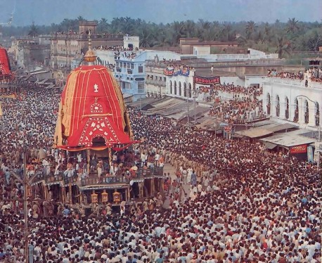 Ratha Yatra Festival at Jagannatha Puri 1976