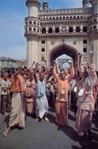 Hare Krishna Devotees Chanting in India - 1977