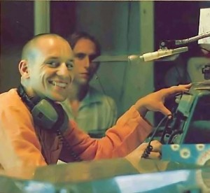 Brahma dasa at the WEVL console - 1977