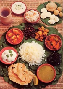 Plate of ISKCON Krishna Prasadam - 1977
