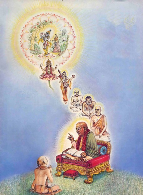 The disciple connected to Krishna through his Spiritual Master and the Disciplic Succession - 1977