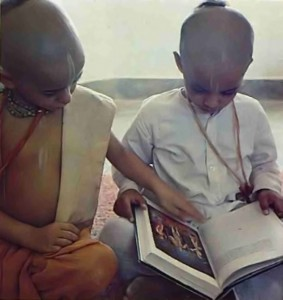 From the Vedic literatures the boys learn how to spread the peaceful, Krishna conscious Vrndavana atmosphere over the whole world.
