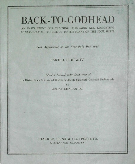 Back to Godhead - Volume 01, Number 0104 - 1944