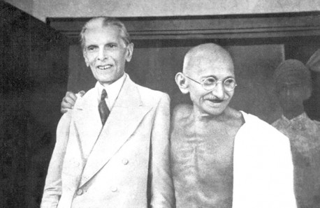 Gandhi and Jinnah 1944