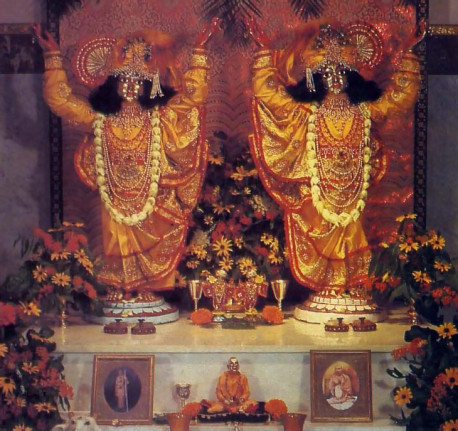 On this farm you can see God everywhere and that includes the temple, where the Deity forms of Lord Sri Krsna Caitanya and Lord Nityananda invite all to chant the Hare Krsna maha-mantra and offer the fruits of their labor