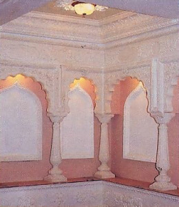 The Interior has been completely remodeled. Now it is an authentic replica of an ancient Indian temple.