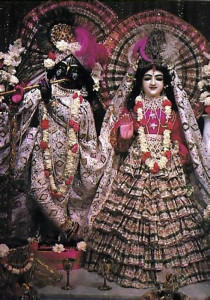 Krsna in Paris ... With His eternal consort Radha