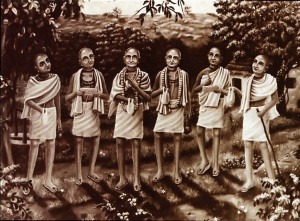 Among Sri Caitanya's followers, the scholars known as the six Gosvamis of Vrndavana contributed a rich body of literature to the emerging tradition
