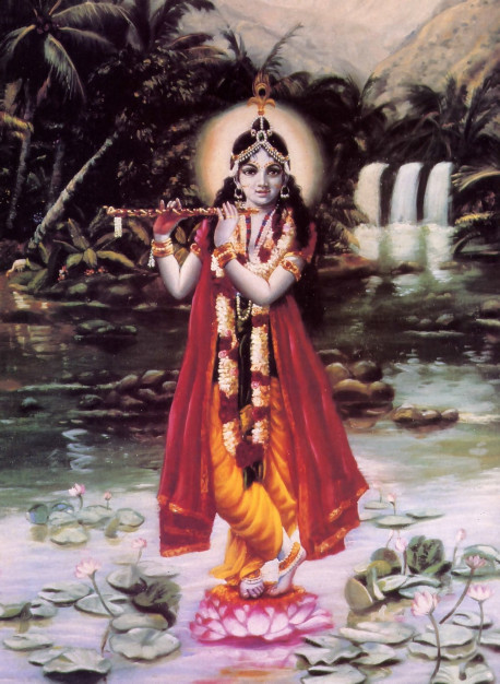 Realization of Krsna, the Supreme Personality of Godhead, is the final goal of all yoga practice. But only to His pure devotees, the bhakti-yogis, does the Lord reveal this most beautiful and attractive form.
