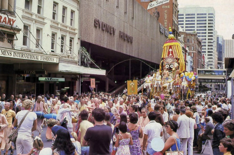 Downtown Sydney welcomes Krsna's chariot for a festival thousands of years old.