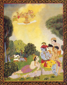 """Krsna is fairly new to the West, but His adventures in Agha the Terrible Demon will appeal to children of all ages. The cover design is very clever, and the art·work is exotic and beautiful. From all points of view storyline, shape, general appearance Agha is a success .'' -M. Paysinger Professor of Literature Newberry College"