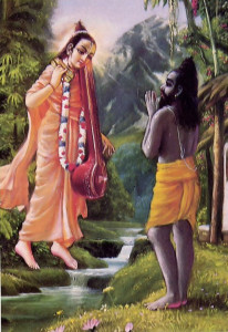 Vyasa (greeting his guru, Narada)- edited the Vedas; (c. 3000 B.C .)