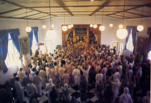 Devotees celebrate the opening of the new Hare Krsna temple in Laguna Beach, California.
