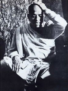Srila Prabhupada as he appeared inside The East Village Other, in the article describing his first chanting session in Tompkins Square Park.