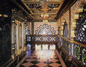 fine marble inlays show expertise the devotees acquired during the seven years they spent working to build the Palace