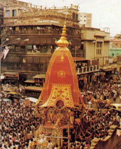 The Krsna Society's Ratha-yatra in Calcutta brings thousands into the streets to glorify Lord Jagannatha.